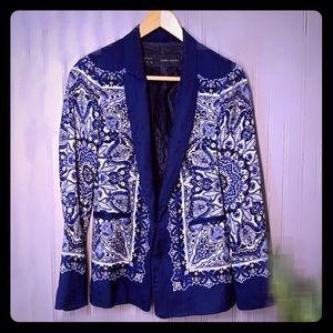 Zara Paisley Print Blazer